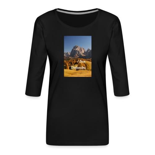 Langkofel - Wahrzeichen Südtirols - Frauen Premium 3/4-Arm Shirt