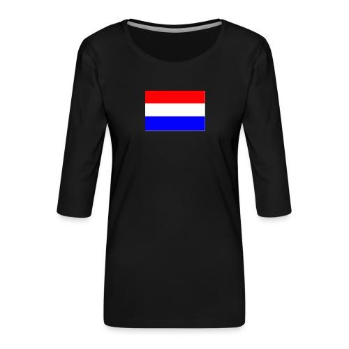 vlag nl - Vrouwen premium shirt 3/4-mouw