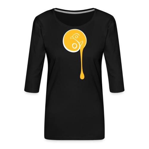 YinYang Birds - Frauen Premium 3/4-Arm Shirt