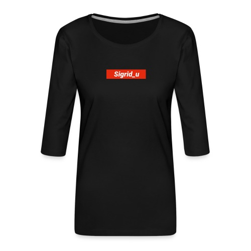 Sigrid_uBoxLogo - Premium T-skjorte med 3/4 erme for kvinner