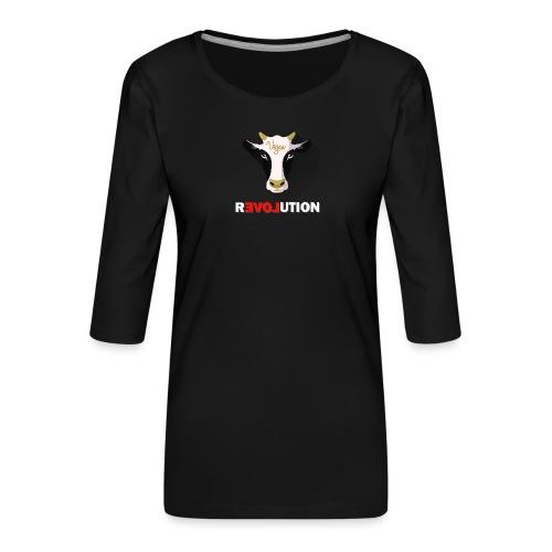 Vegan Revolution - T-shirt Premium manches 3/4 Femme