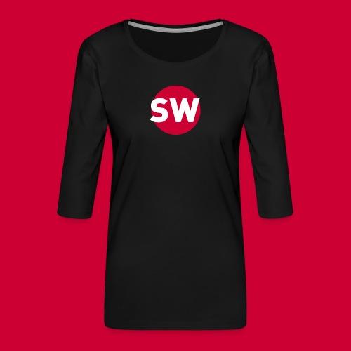 SchipholWatch - Vrouwen premium shirt 3/4-mouw