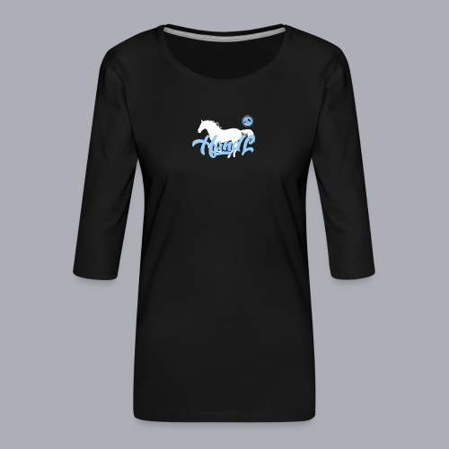 H&l denim Simple Horse - T-shirt Premium manches 3/4 Femme