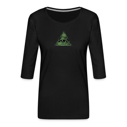 Iluminati - T-shirt Premium manches 3/4 Femme