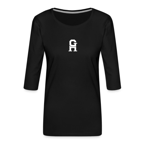 afterlife logo - white - Vrouwen premium shirt 3/4-mouw