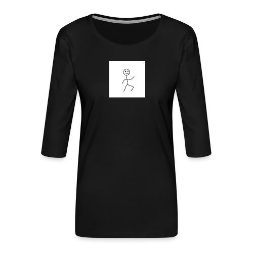 stick man t-shirt dance 1,0 - Dame Premium shirt med 3/4-ærmer