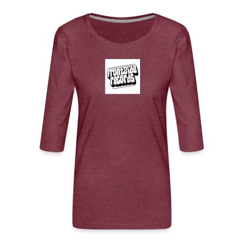 newfrontzidelogo - Dame Premium shirt med 3/4-ærmer