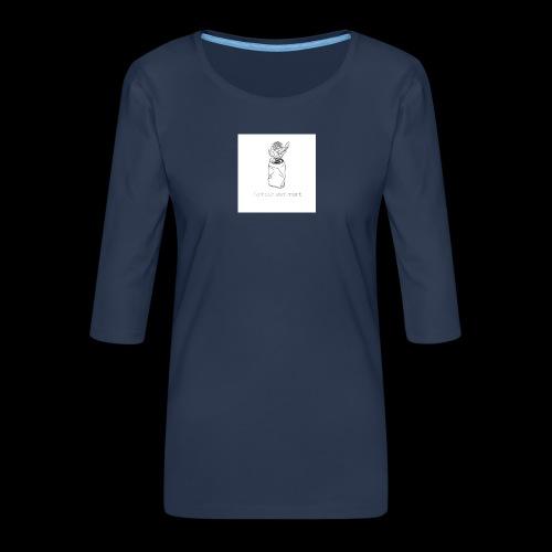 l'amour est mort - T-shirt Premium manches 3/4 Femme