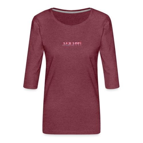 ACMATTI farverig - Dame Premium shirt med 3/4-ærmer