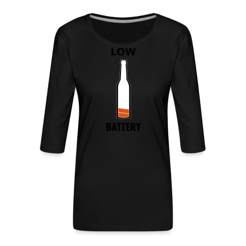 Beer Low Battery - T-shirt Premium manches 3/4 Femme