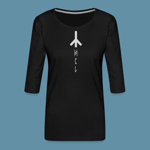 Logo Hel 02 copia png - Maglietta da donna premium con manica a 3/4