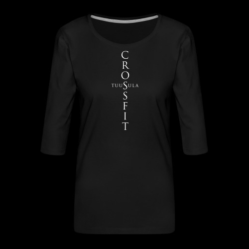 CrossFit Tuusula risti - Naisten premium 3/4-hihainen paita