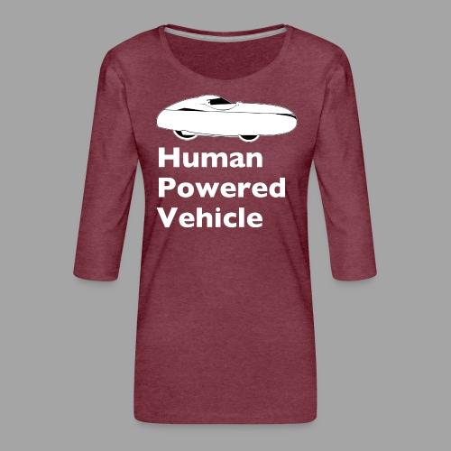 Quest Human Powered Vehicle 2 white - Naisten premium 3/4-hihainen paita