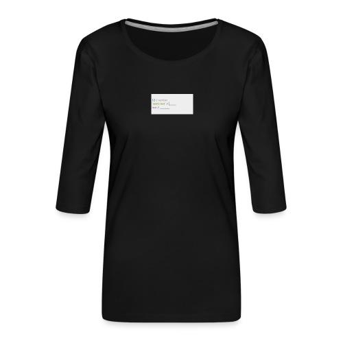 code - T-shirt Premium manches 3/4 Femme