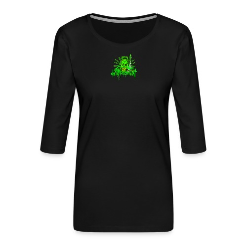 GFSkullOnlyColorShirt - Women's Premium 3/4-Sleeve T-Shirt