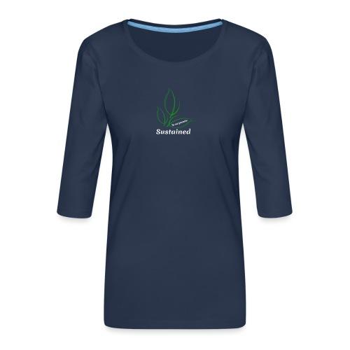 Sustained Sweatshirt Navy - Dame Premium shirt med 3/4-ærmer