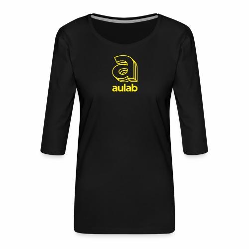 Marchio aulab giallo - Maglietta da donna premium con manica a 3/4