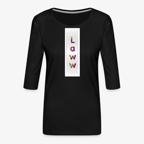 Colorlaww - T-shirt Premium manches 3/4 Femme