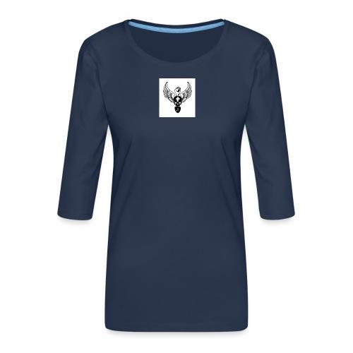 Power skullwings - T-shirt Premium manches 3/4 Femme