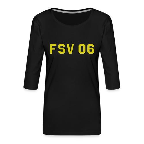Hildburghausen - FSV 06 Stick-Optik - Frauen Premium 3/4-Arm Shirt