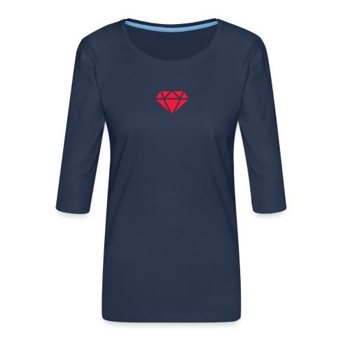 Logomakr_29f0r5 - Women's Premium 3/4-Sleeve T-Shirt