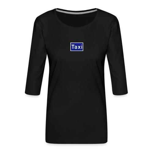 Taxi - Premium T-skjorte med 3/4 erme for kvinner