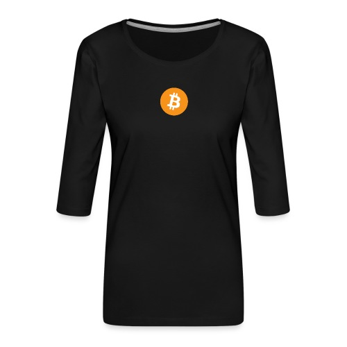 Bitcoin - Women's Premium 3/4-Sleeve T-Shirt