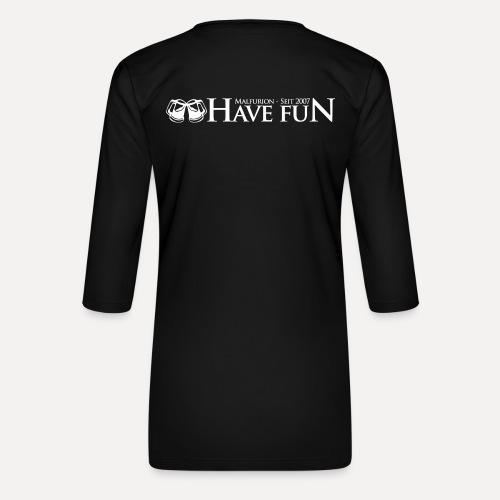 Logo Have Fun Malfurion - Frauen Premium 3/4-Arm Shirt
