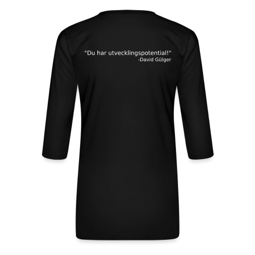 Ju jutsu kai förslag 1 version 1 vit text - Premium-T-shirt med 3/4-ärm dam