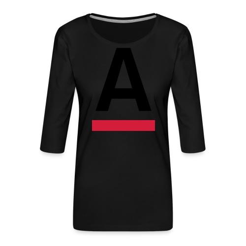 Alliansfritt Sverige A logo 2013 Färg - Premium-T-shirt med 3/4-ärm dam