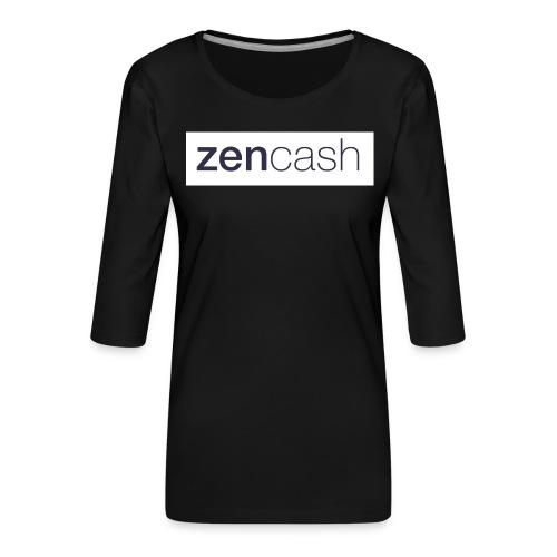 ZenCash CMYK_Horiz - Full - Women's Premium 3/4-Sleeve T-Shirt