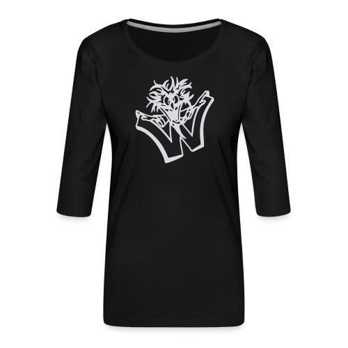w wahnsinn - Vrouwen premium shirt 3/4-mouw