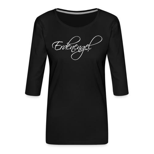 Erdenengel (Flügel am Rücken) - Frauen Premium 3/4-Arm Shirt