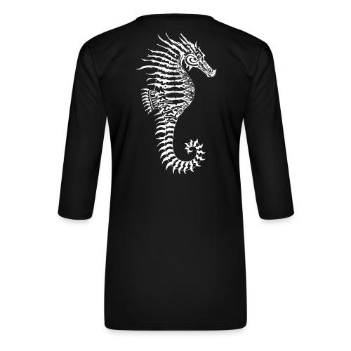 Alien Seahorse Invasion - Women's Premium 3/4-Sleeve T-Shirt