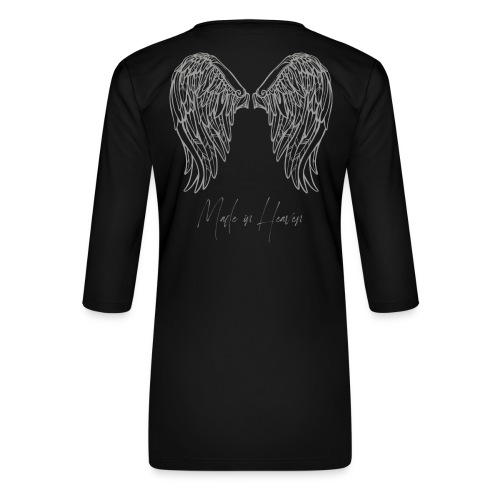 heaven - Camiseta premium de manga 3/4 para mujer