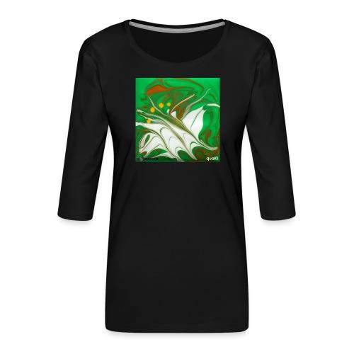 TIAN GREEN Mosaik CG002 - quaKI - Frauen Premium 3/4-Arm Shirt