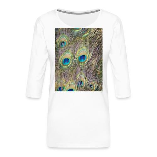 Peacock feathers - Naisten premium 3/4-hihainen paita