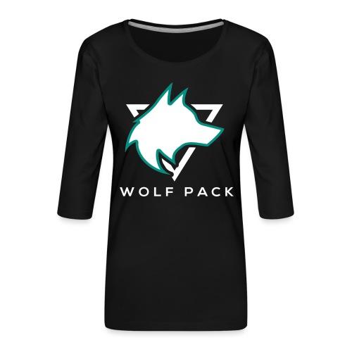 Wolf Pack Logo (NEW) - Women's Premium 3/4-Sleeve T-Shirt