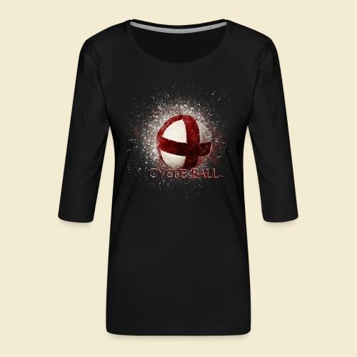 Radball | Cycle Ball - Frauen Premium 3/4-Arm Shirt