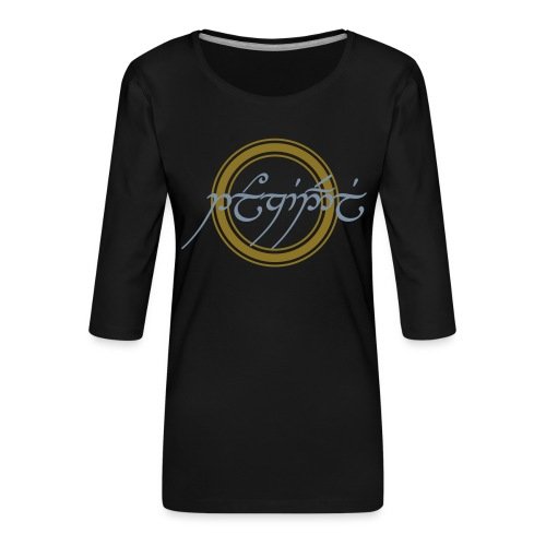Tolkiendil en tengwar - T-shirt Premium manches 3/4 Femme