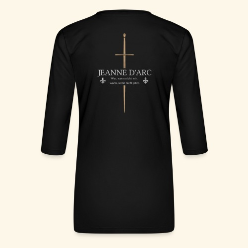 Jeanne d arc - Frauen Premium 3/4-Arm Shirt