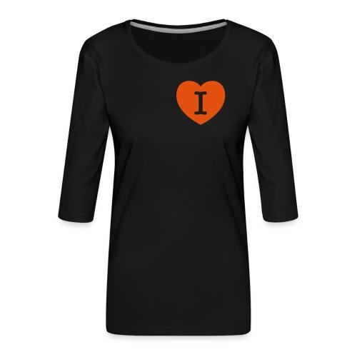 I - LOVE Heart - Women's Premium 3/4-Sleeve T-Shirt