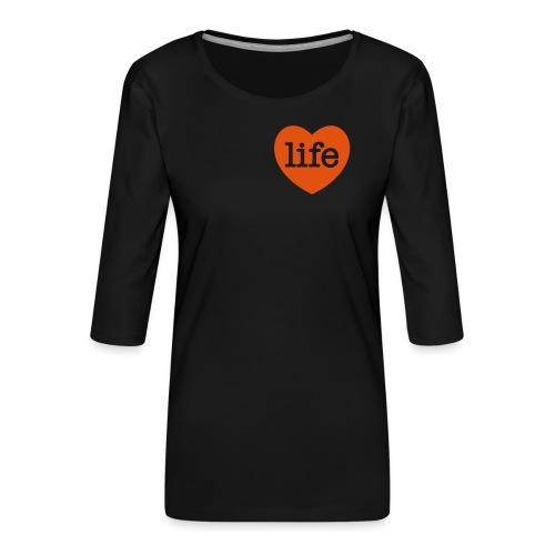 LOVE LIFE heart - Women's Premium 3/4-Sleeve T-Shirt