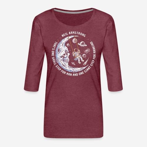 moon astronaut stars space - Frauen Premium 3/4-Arm Shirt