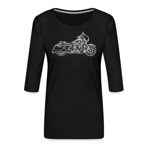Motorcycle Streetglide - T-shirt Premium manches 3/4 Femme
