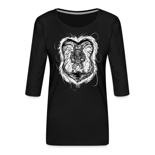 Horned Metalhead - Women's Premium 3/4-Sleeve T-Shirt