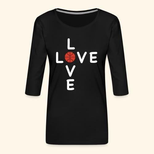 LOVE Cross basketball red 001 - Frauen Premium 3/4-Arm Shirt
