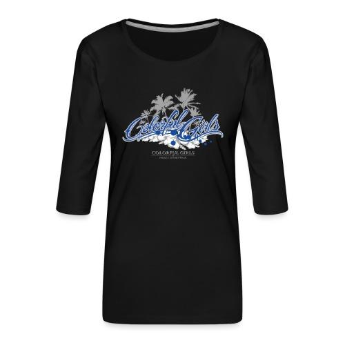 Colorful Girls Logo - Frauen Premium 3/4-Arm Shirt