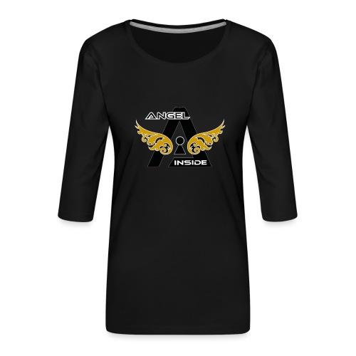 ANGEL INSIDE2-01 - Maglietta da donna premium con manica a 3/4