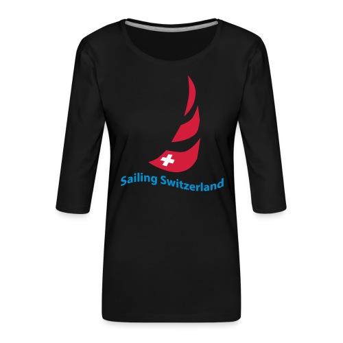 logo sailing switzerland - Frauen Premium 3/4-Arm Shirt